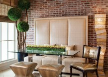 Exquisite-contemporary-dining-room-dazzles-with-custom-banquette-decor-and-a-pinch-of-greenery-217x155
