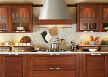 Extractor hood becomes the focal point of the contemporary classic kitchen from Snaidero
