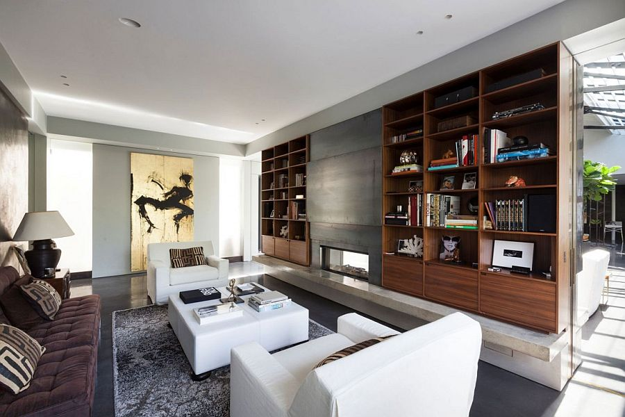 Fabulous artwork and custom decor add to the glitter of the London penthouse for rent