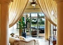 Fabulous sunroom of luxurious Mediterranean Villa in Miami