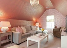 Family-room-with-stunning-use-of-pink-wallpaper-217x155