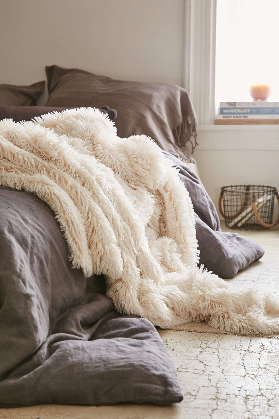 Faux fur blanket from Urban Outfitters