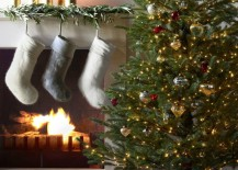 Faux fur stockings from Restoration Hardware