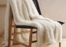 Faux sheepskin throw from West Elm