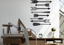 Feathered arrow wall decals
