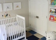 Flor carpeting in a modern nursery