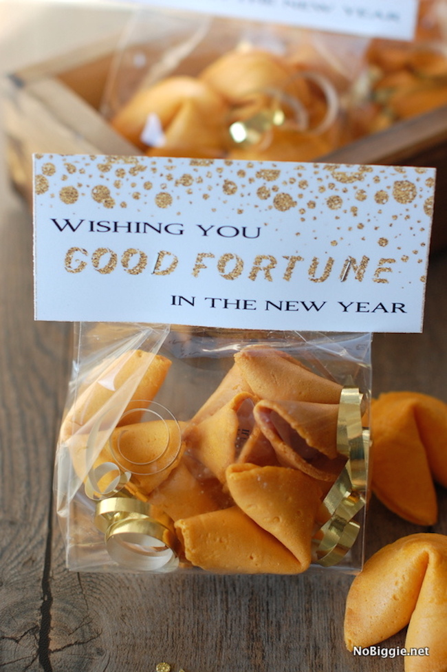 Fortune cookie good bags for New Year's Eve
