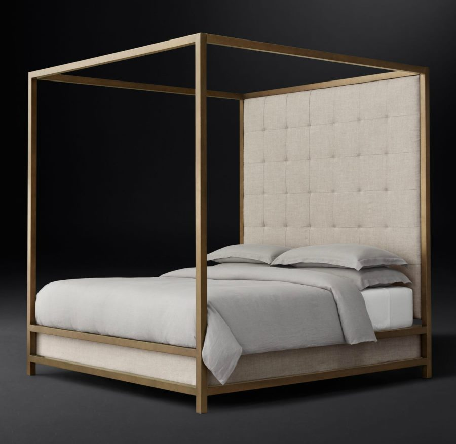 Four-poster bed from RH Modern