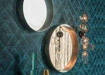 Frame in graphite or black embossed lacquered steel for Wish 217x155 Refined Reflection: 4 Strikingly Glamorous Mirrors from Cattelan Italia