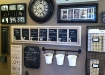 Framed weekday chalkboard calendar