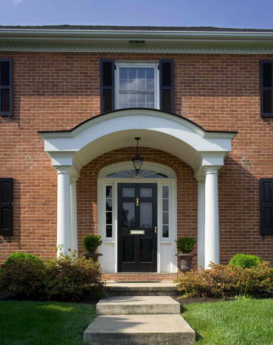 Front Elevation Arch : Paint the front door helpful tips