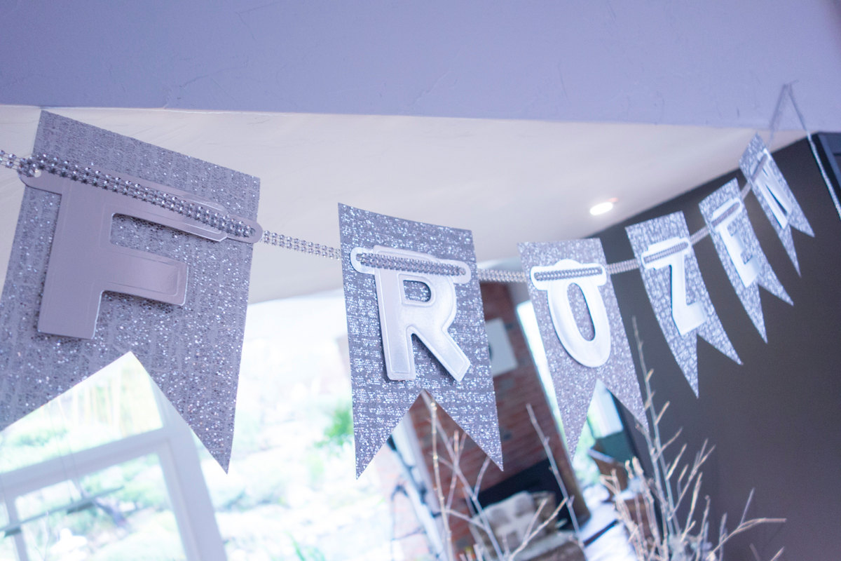 Frozen party banner from Etsy shop The Glitter Shoppe