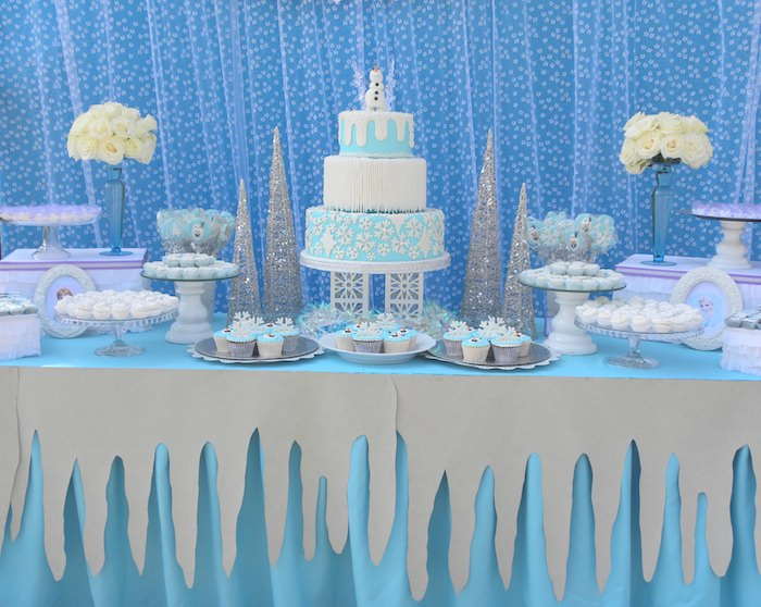 Awesome Frozen Themed Party Decoration Ideas Part - 8: View In Gallery Frozen Party Featured At Karau0027s Party Ideas