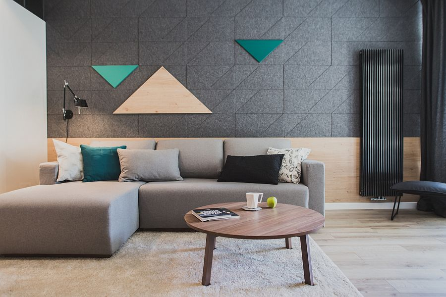Fun way to add geometric pattern to the small living space using felt