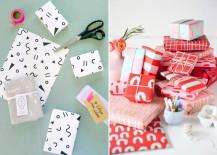 Gift wrap ideas from Design Love Fest and Paper & Stitch