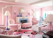 Glamorous living room brings Pantone Color of the Year 2016