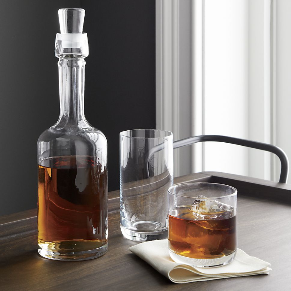 Glass decanter from Crate & Barrel