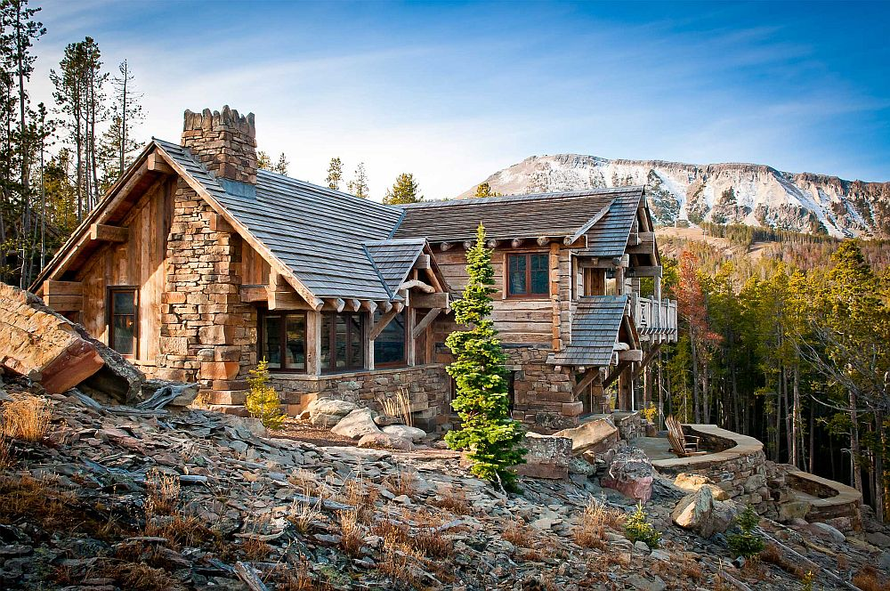 Gorgeous Alpine mountain home that blends in with its rugged surroundings Dancing Hearts: Picture Perfect Hillside Escape in Montana!