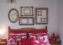 Gorgeous-collage-of-empty-frames-in-the-eclectic-bedroom-217x155