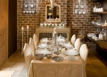 Gorgeous-dining-room-with-tiled-flooring-and-brick-walls-brings-classic-charm-to-contemporary-setting-217x155