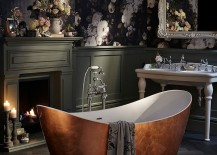 Gorgeous shabby chic bathrooms are not always about white!