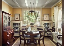 Gray-ceiling-gives-a-unique-look-to-the-transitional-dining-room-217x155