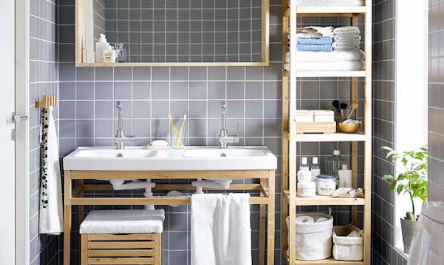 & 15 Exquisite Bathrooms That Make Use of Open Storage