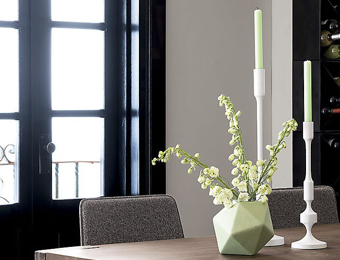 Green hex vase from CB2