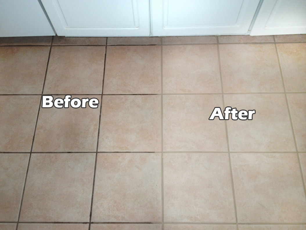 How to clean grout on bathroom floor tiles - View In Gallery Grout Cleaning And Sealing Can Make A Big Difference