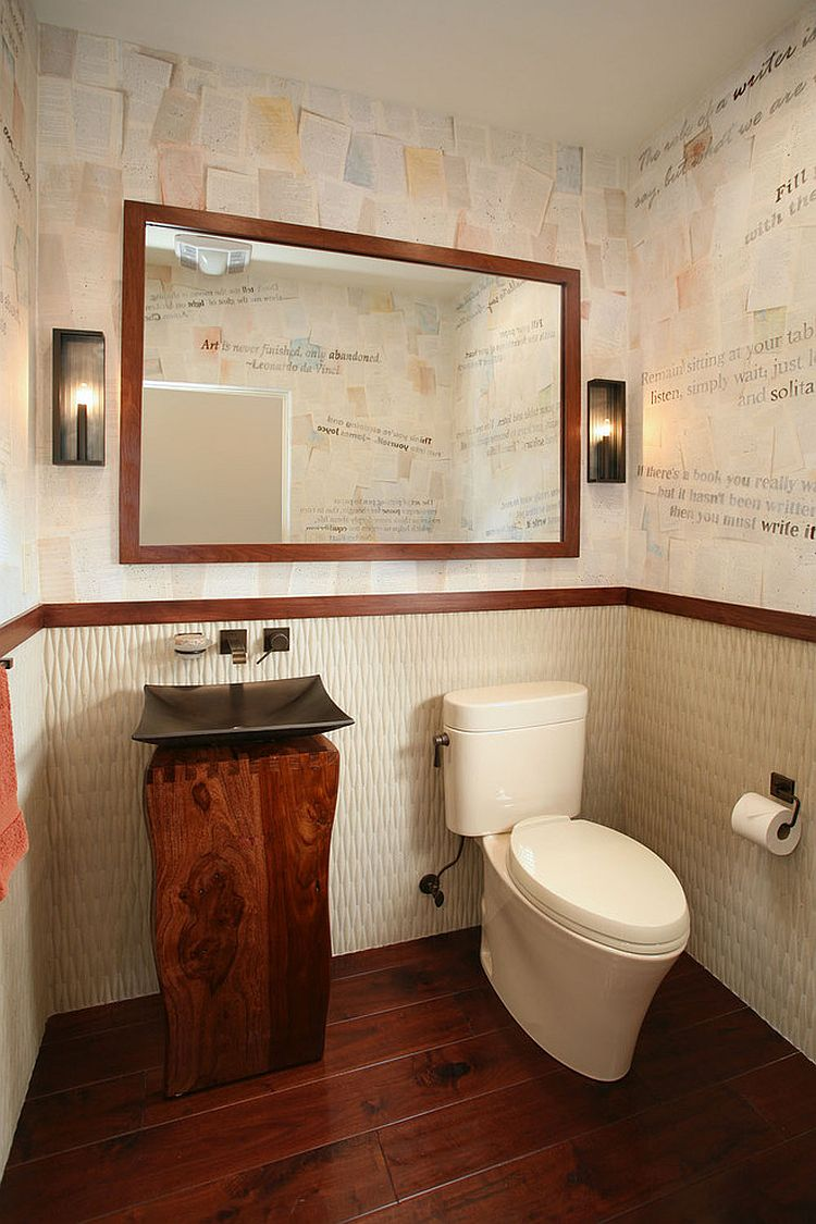 Craft your style decoupage and decorate with custom wallpaper Bathroom design pictures books