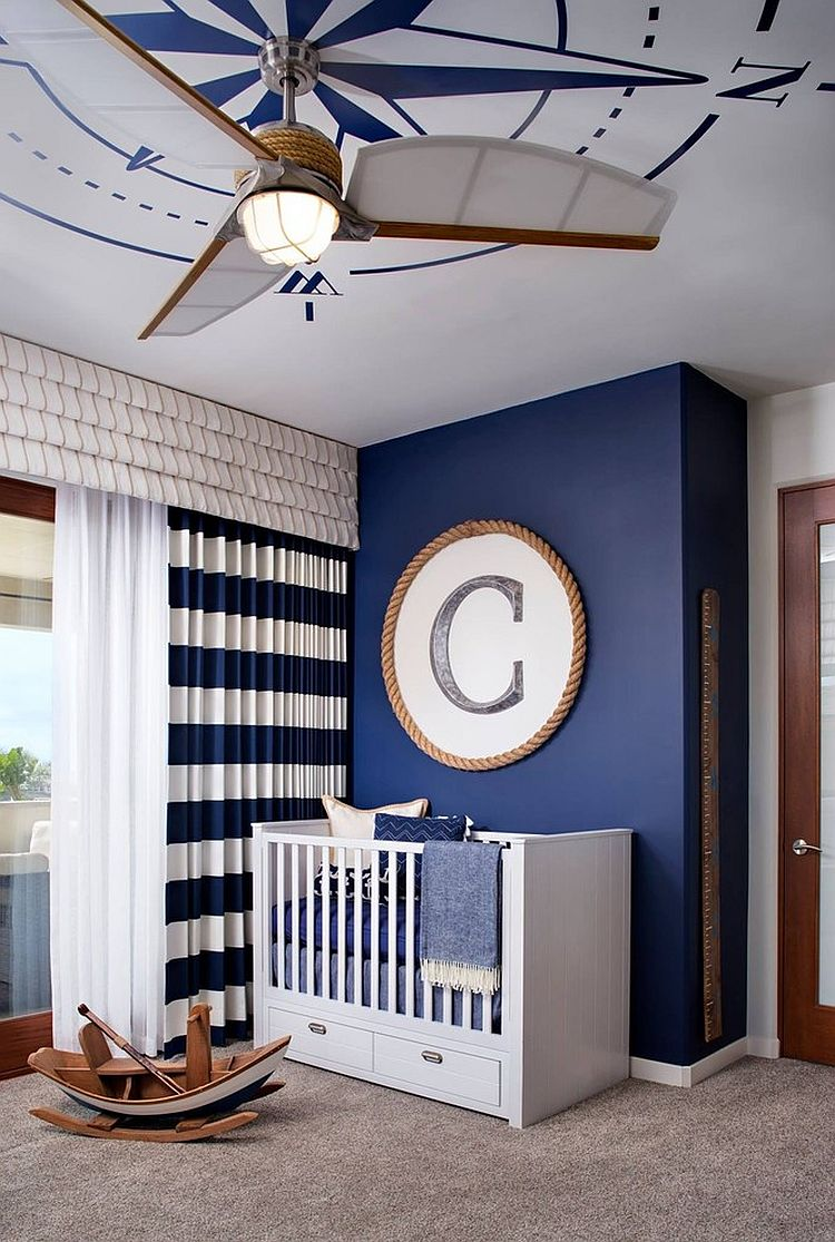 Hard to miss the nautical influence in this nursery [Design: Camico Graphics]