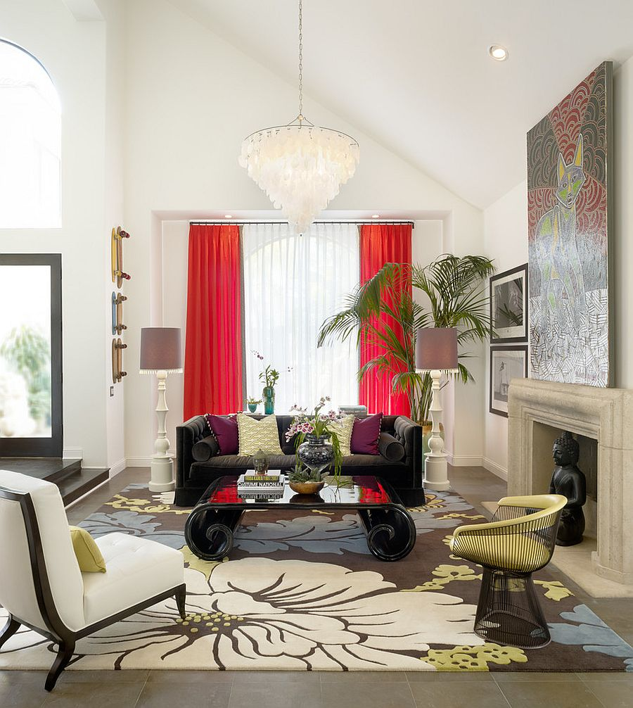 Bold and Glamorous: How to Style Around a Black Coffee Table