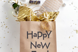 Homemade swag bags for New Year's Eve