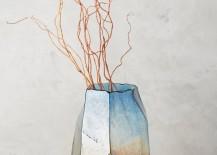 Iridescent angular vase from Anthropologie