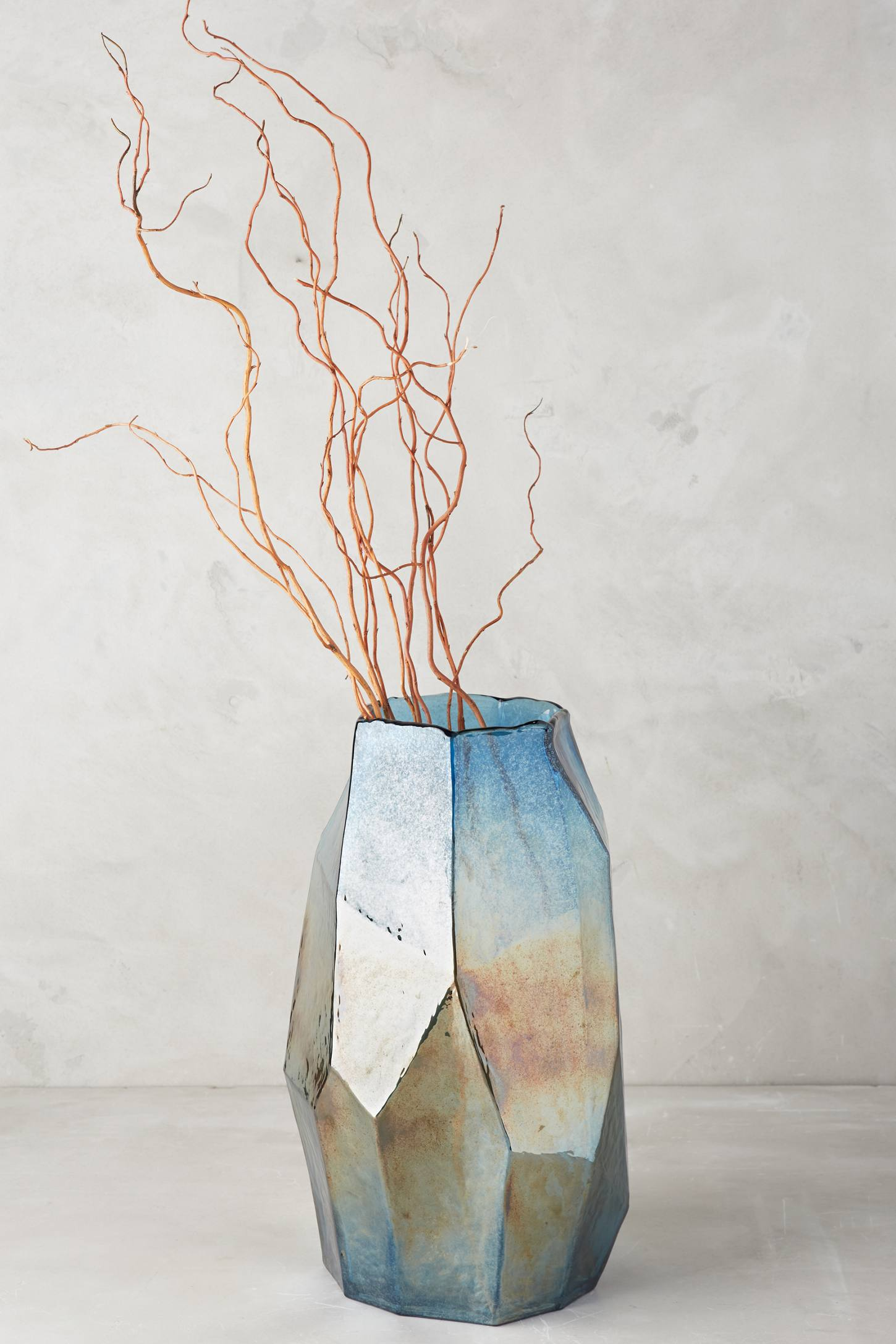 Iridescent angular vase from Anthropologie