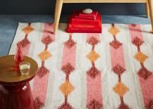Kilim rug in warm tones
