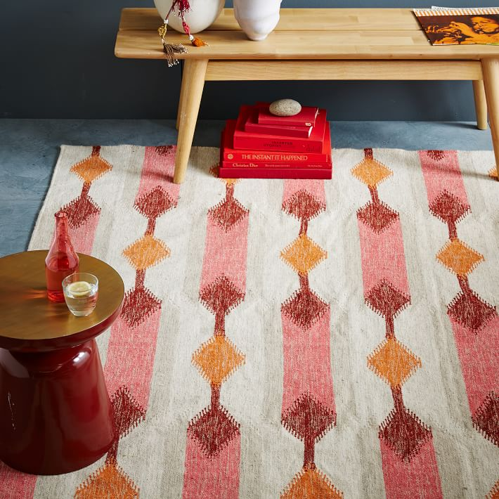 Kilim rug in warm tones
