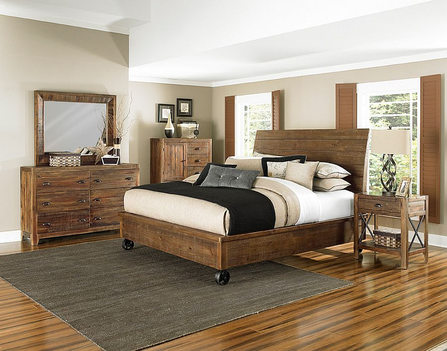 Kingsize bed with casters for the modern bedroom