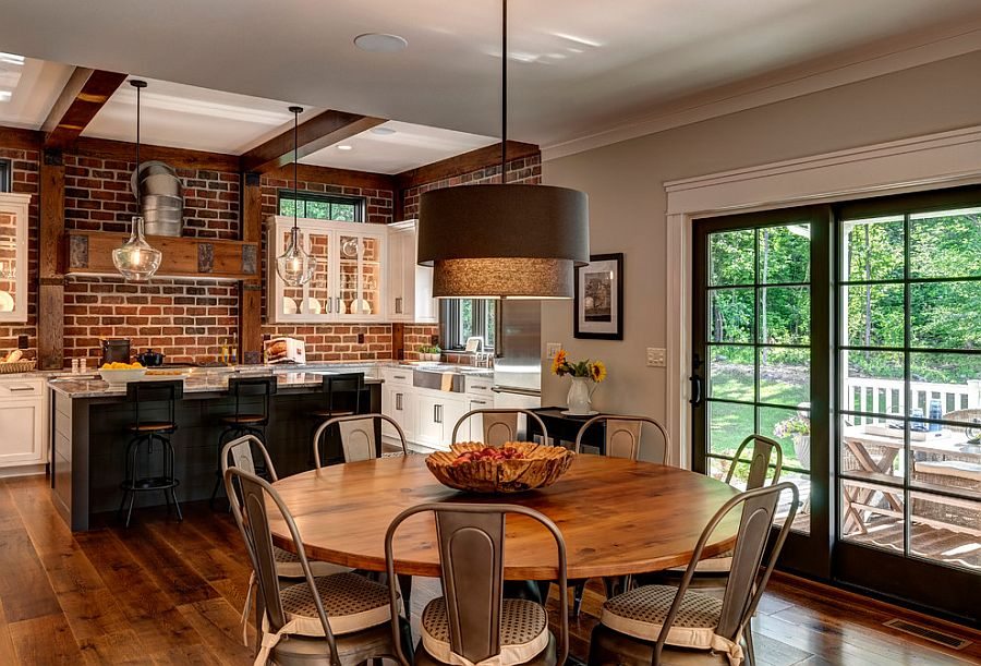 Kitchen And Dining Room Rolled Into One From Farinelli Construction Andy Warren Photography