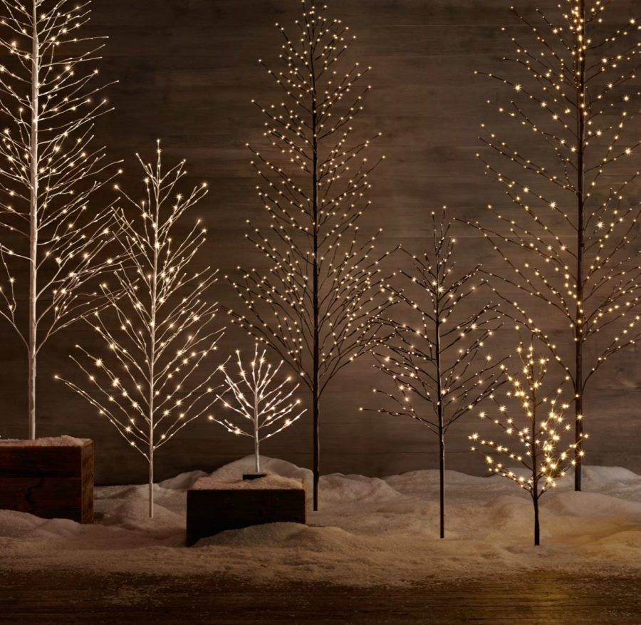 LED trees from Restoration Hardware