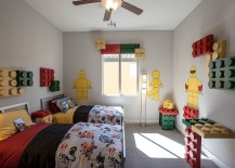 Lego themed contemporary kids room 217x155 Fun Neutrals: 25 Cool Kids' Bedrooms That Charm with Gorgeous Gray