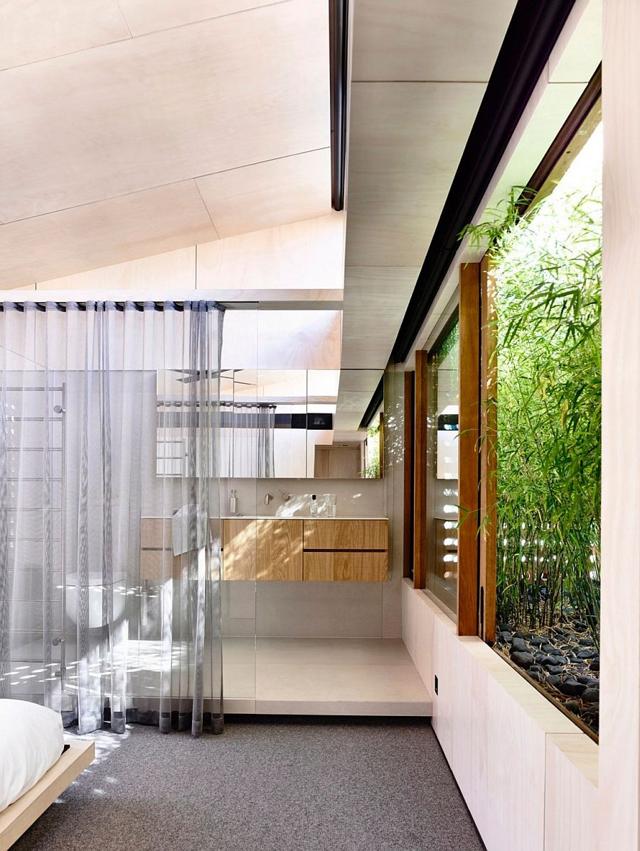 Light wells and garden features bring the outdoors inside at this breezy Aussie home