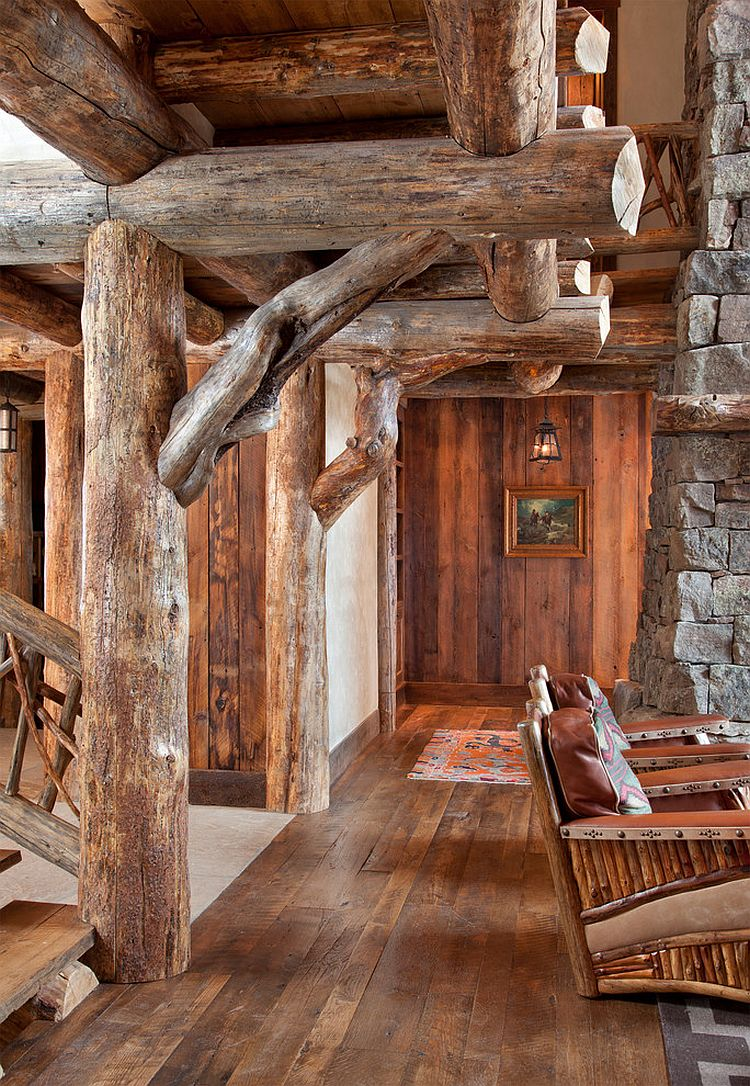 Spanish peaks cabin a rustic gateway to big sky s for Stone log cabin