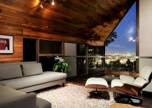 Loft-styled sitting area with fabulous view of the city