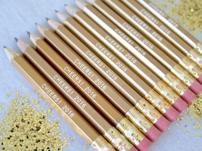 Lucky New Year pencils for your party guests
