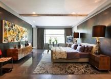 Luxurious bedroom of Talisman penthouse in London