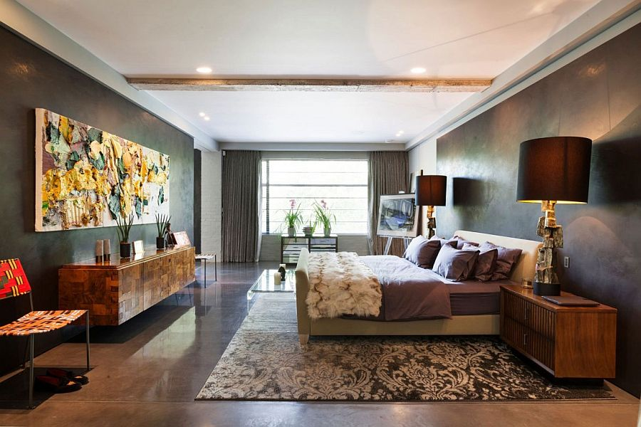Luxurious bedroom of Talisman penthouse in London