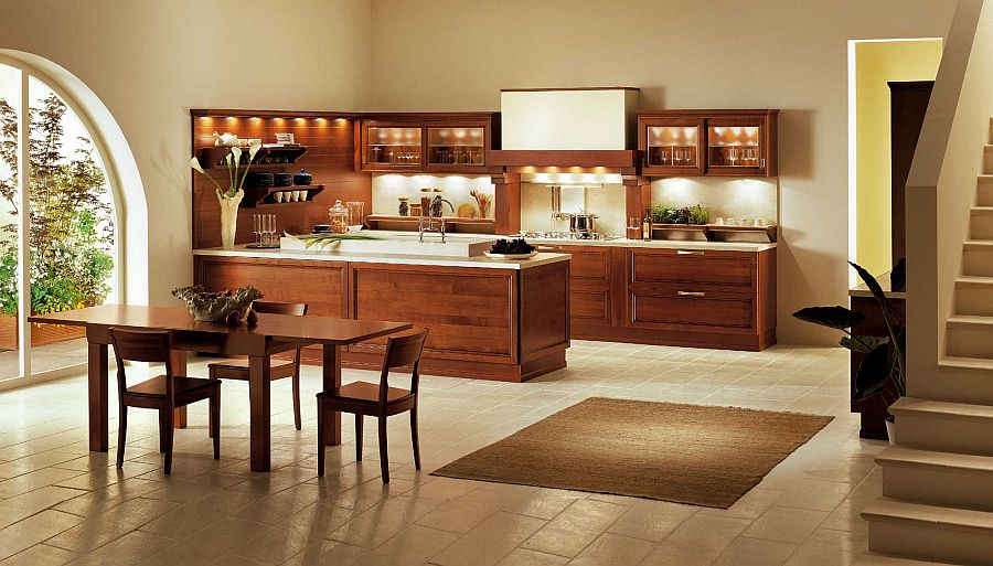 View In Gallery Luxury Kitchen Showcases Contemporary Reinterpretation Of Traditional Italian Design