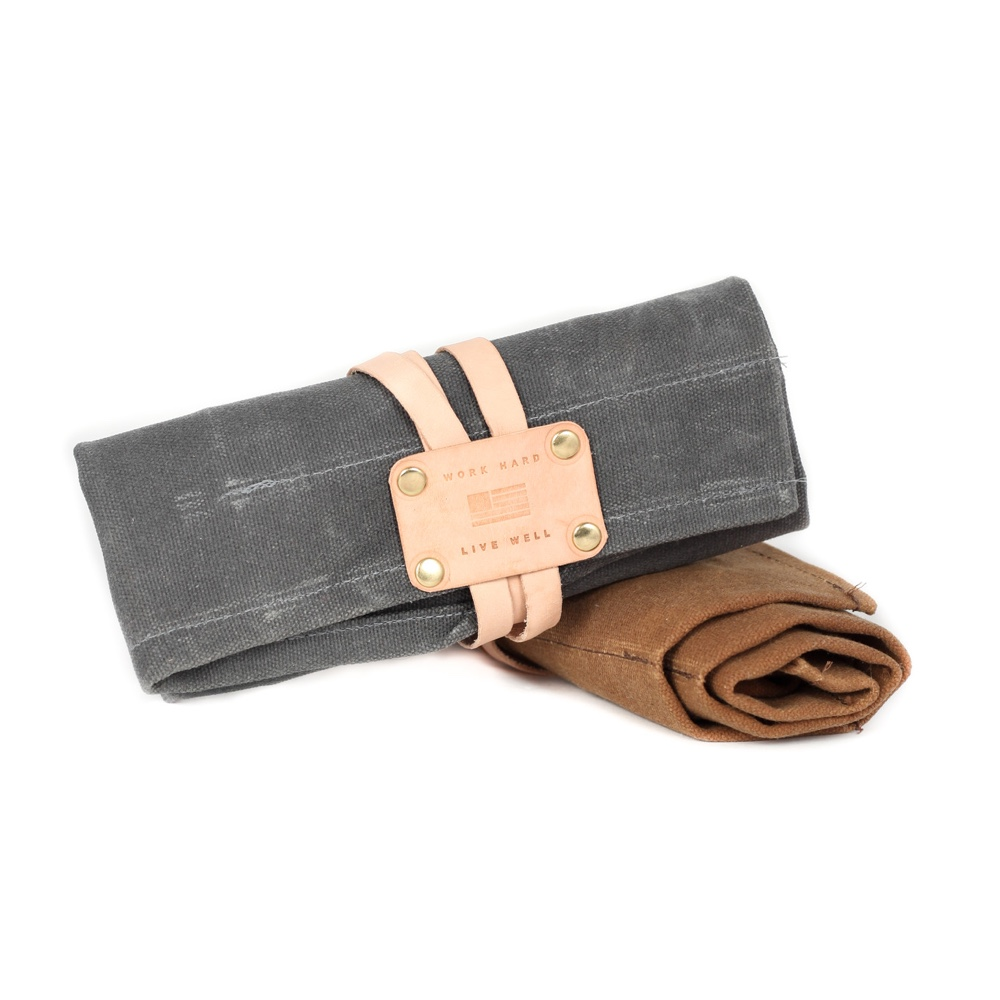 Manreday Mercantile Large Waxed Canvas Tool Roll
