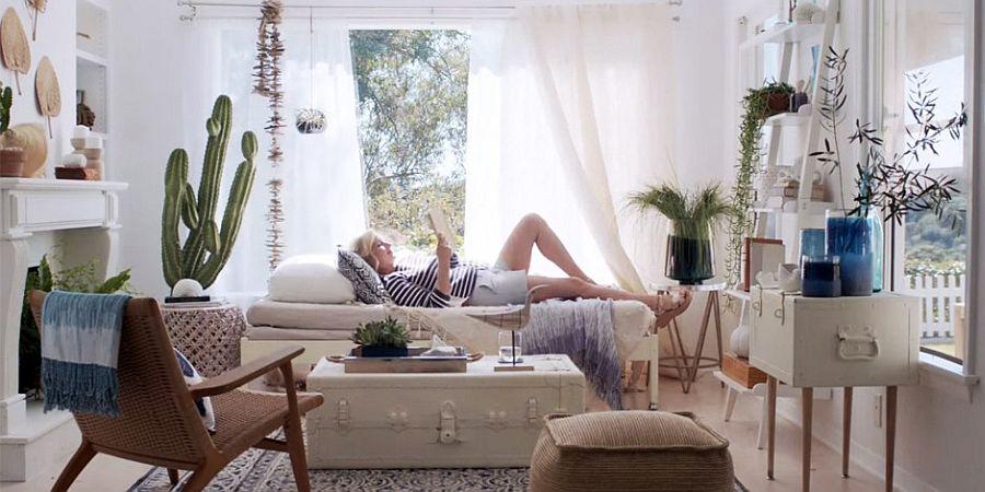 Mediterranean-inspired sunroom designed by Emily Henderson